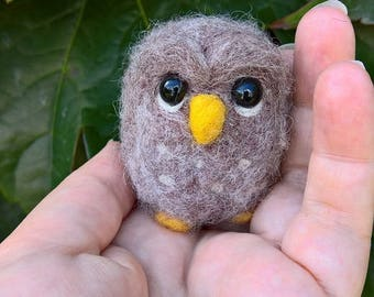 Needle Felted Little Owl