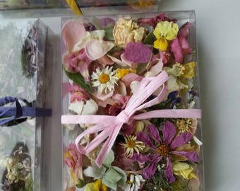 Wedding Confetti, Dry Flowers, Dry Lavender, Flower Girl, Wedding Table Decor, Dry Petals,  Wildflowers, 3 Boxes or Bags of Flower Confetti