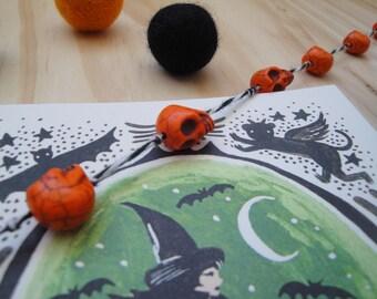 BANNER Halloween garland Skull