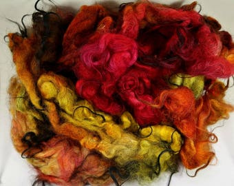 Fireball Icelandic Fleece for spinning and felting (3.9 ounces)