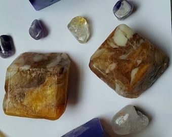Sunny Days Crystal Gem Soap. Verbena, Lemongrass and Lime.