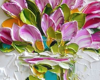 Purple Tulip  painting,  oil painting, original painting, bridal shower,  wedding