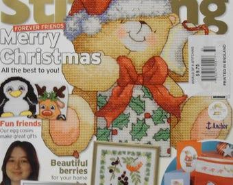 The World Of Cross Stitching British Magazine 2007 Christmas Issue 132