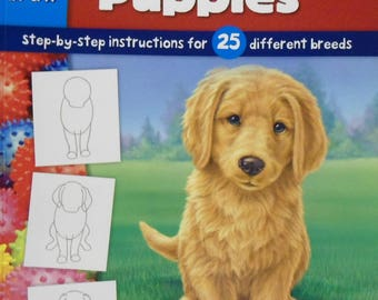Walter Foster Learn to Draw Dogs & Puppies Book 25 different breeds