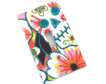 Mexican Sugar Skulls Glitter Light Switch Plate Cover
