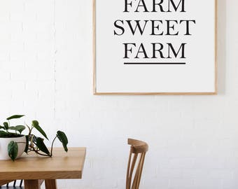 Farm Sweet Farm Farmhouse Style Decal 18x14 saying Traditional Font Decor Vinyl Wall Decal Graphic