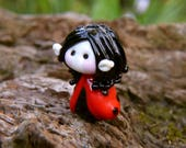 Little Elven in Ladybird cloack glass bead