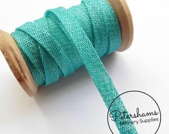 1cm Sinamay Bias Binding Tape Strip (1.6m/1.7yards) for Millinery & Hat Making - Turquoise