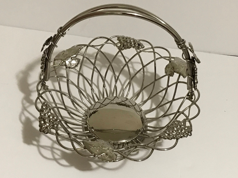 Godinger Silver Art Co Basket : Godinger silver art silverplate grape vine leaf fruit bread