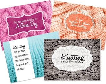 Knitting or Crochet Note Cards