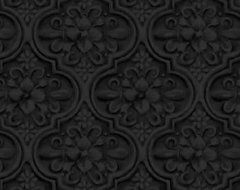 Maywood Studio - Greenery - Medallions - Black - Fabric by the Yard MAS8294-J