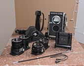 RESERVED for Lijun Lu - Vintage Mamiya C330 Professional TLR Medium Format camera, 2 lenses 80 and 135mm