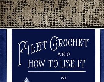 Augusta Pfeuffer #3 c.1915 Popular Patterns Vintage Lovely Filet Crochet Edgings