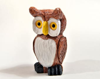 Wooden Owl Carving Spring Decor Grandma Gifts for Women Gifts For Grandma Wood Sculpture Woodworking Husband Gift For Mother Gifts