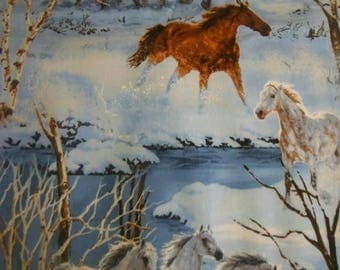 Horses Running in the Snow Fabrics--Gorgeous -- 40-70% off Patterns n Books SALE