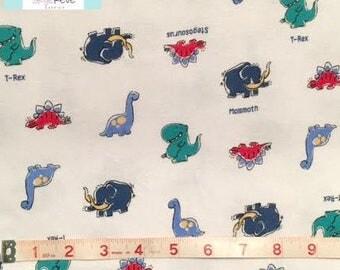 LAST 3/4 YARD, Dinosaurs knit fabric