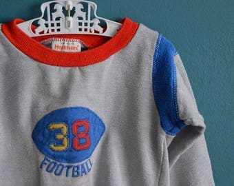 Vintage 1980s Boy's Football Shirt by Health-tex - Size 24 Months