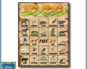 Digital Zoo Bingo