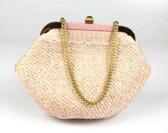 Vintage Pink Retro Box Handbag