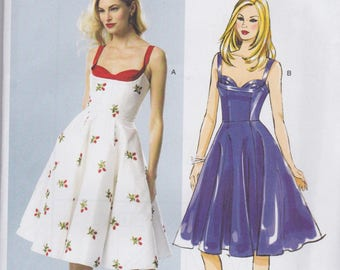 Butterick Pattern B5882 By Gertie Princess Seamed Sundress with Fitted Boned Bodice, Pleated Bra and Full Skirt Misses' Sizes 12 - 20