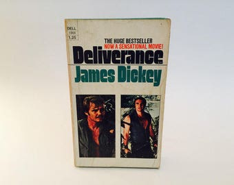 Vintage Pop Culture Book Deliverance by James Dickey 1972 Movie Tie-In Edition Paperback
