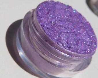 Bright Lavender Purple Eyeshadow    Loose Pigments   Heavy Blue Shimmers   Vegan Mineral Eye Shadow - Grape Ape