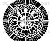 Witchy Grimoire Stencil Series: Wheel of the Year