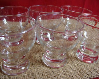 6 Clear Snack Set Glasses Small Juice Glasses Snack Set Glasses