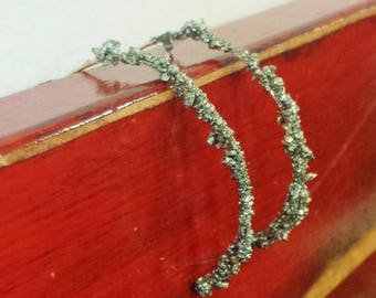 25% Off Sale Pyrite 14k Yellow Gold Fill Half Hoop Earrings 20GA