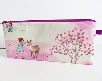 Whimsy Print Long Zippered Case.