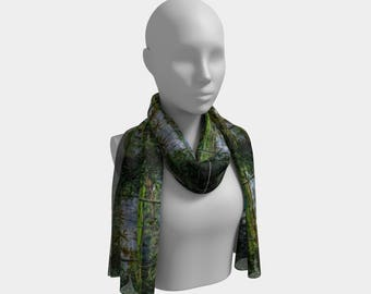 Tropical Countryside Long Scarf style 1