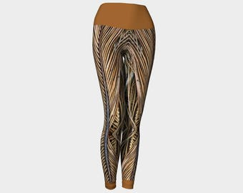 Palm Frond Yoga Leggings style 1