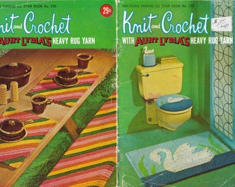 Knit and Crochet with Aunt Lydia's Heavy Rug Yarn - Star Book No. 195