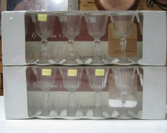 "NIB Set of 12 Luminarc  ""Meridien""  3 cl  4""   Cordial Glasses  Made in France"