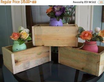 PICK ME SALE mason jar centerpieces holder Garden planter box outdoor Wood reception decorations flower reclaimed country wedding decoration