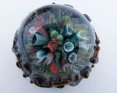 Underwater Coral Reef Glass Paperweight, Heady Glass, Ocean Paperweight, Lampwork, Hand Blown Glass Boro, Scuba Diving Gift, Glass Trinket