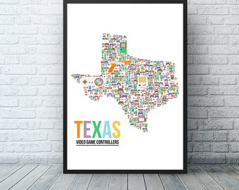 Video Game Poster Nerd Gifts , Texas Gamer Girlfriend, Video Game Decor, Nintendo Switch Controller Art Print, Will You Be My Player 2