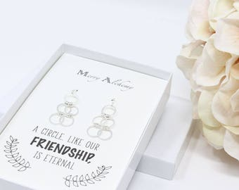Best Friend Gift, Minimal Jewelry, Minimal Earrings, Earrings Sterling Silver, Christmas Gift best friend, Galentines Day, Dangle Earrings