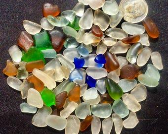 A-Sea Glass! Beach Glass! of Hawaii Beaches 100! Sea Glass SALE! COBALT!  Only 28 Dollars! Genuine Sea Glass! Seaglass