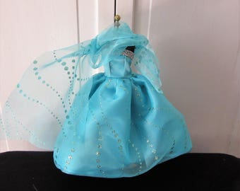"""11.5"""" Doll Dress, Turquoise Sequin Doll Gown, 11 1/2"""" Doll Clothes, Doll, Doll Dress,Fashion Doll Clothes,Toys and Games, Doll Clothes,Toys"""