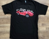 Corvette T-shirt Gift for Dad Car Lover Classic Car Gift Idea 1973 Chevy Corvette Stingray Chevrolet Sports Muscle Car Cool Car Shirt