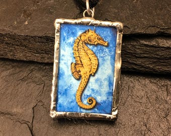 Seahorse Pendant with quote from John Masefield on the reverse