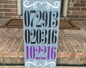 Special Date Sign ~Important Dates Sign~Wedding Date Sign~Custom Date Sign~Anniversary Gift~Love Story Sign~Our Story Sign~Family Story Sign