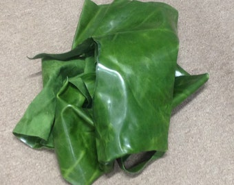 AB25.  Green Pull-Up Leather Cowhide Partials