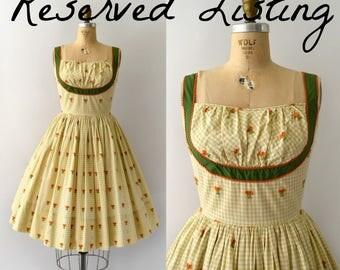 RESERVED LISTING -- 1950s Vintage Sundress