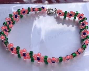 Children's Beaded Flower Bracelet