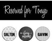 Reserved for Tonya