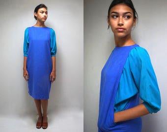 Nicole Miller Dress  //  80s Avante Garde Dress  // Raw Silk Dress  //   THE BRAMBY