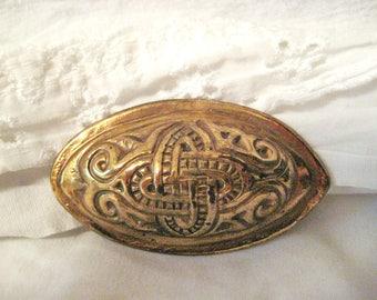Bronze Finnish brooch-made in Finland, marked.  Kalevala Koru?-SALE