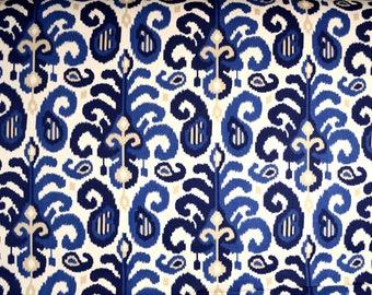 Rasul Blue 72062 5 Ikat Fabric